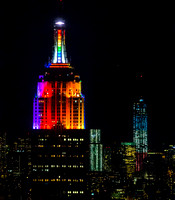 NYCpride colors on the Empire State Building.
